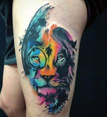 38 best 3d lion tattoo on thighs images on pinterest draw crows