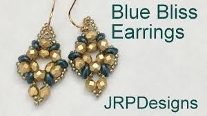 beginner earrings blue bliss earrings beginner to intermediate beading tutorial