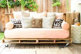 bedrooms diy pallet outdoor daybed oh wheels feat cozy cushions