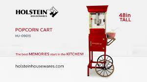 hu 09015 popcorn cart 48in holstein housewares youtube