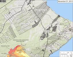Hawaii Island Map Hawaiian Lava Daily
