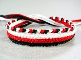 red friendship bracelet images Friendship bracelet set in white red and black four etsy jpg