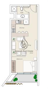 residences studio apartment type 1 floor plan