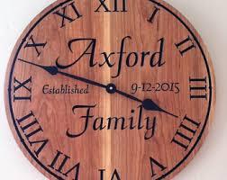 personalized anniversary clock anniversary clock etsy