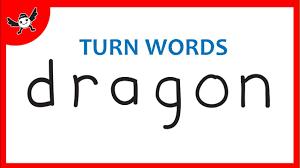 dragon drawing how to turn words dragon into a cartoon dragon