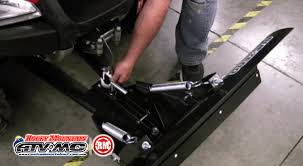 how to assemble install and adjust the tusk subzero snow plow on atvs