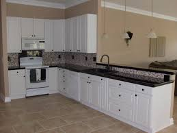 Budget Kitchen Backsplash Kitchen Cabinets White Cabinets With Dark Countertops Door And