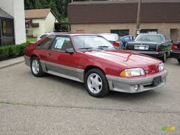 ford mustang gt 1992 1992 strawberry metallic ford mustang gt hatchback 55658269