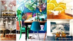 22 cool dinning rooms transformed beautifully by wall murals