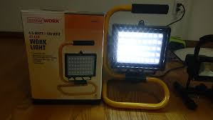smart electrician rechargeable work light luminar work light 45 led light 4 5 watt by hardor freight