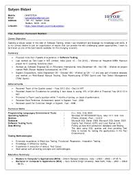 Resume For Test Lead Resume Satyen Bidani Qa