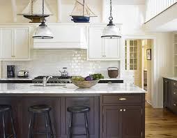 Nautical Kitchen Cabinets Nautical Kitchen Dual Colored Cabinets Ideas For My Kitchen