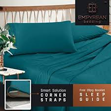 best queen sheets amazon com premium queen size sheets set teal turquoise hotel