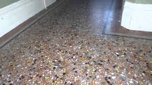 terrazzo floor polishing youtube