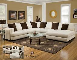 White Fabric Sectional Sofa by Cover Pearl Fabric Modern Sectional Sofa W Options