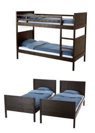 Ikea Tuffing Bunk Bed Hack Norddal Bunk Bed Frame Black Brown Twin Beds Flexibility And Twins