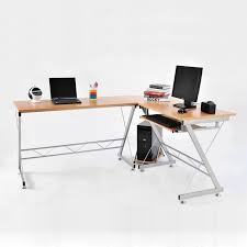 corner desk chair homcom 3pc l shaped corner desk student computer workstation home