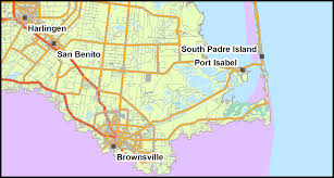 South Padre Island Map Region Maps The Offshore Petroleum Industry And Its Effects On