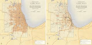 Map Metro Chicago by Metropolitan Chicago Transportation