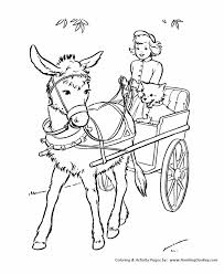 farm animals coloring page farm animal coloring pages printable cute donkey cart coloring
