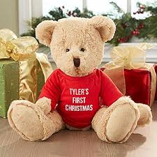 Engraved Teddy Bears Personalized Christmas Teddy Bear