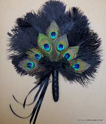 peacock feather fan peacock decoration wedding feather fan with by bridesdayrevisited