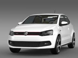 white volkswagen polo volkswagen polo gti 3d 2009 2013 by creator 3d 3docean