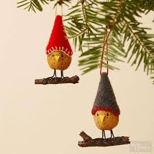 make an almond bird ornament from better homes and gardens