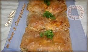 recette de cuisine marocaine en mini pastille au poulet et chignons بسطيلة recette marocaine