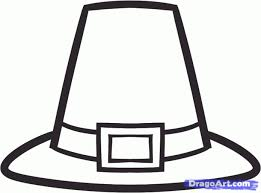 how to draw a pilgrim hat stepstep thanksgiving seasonal