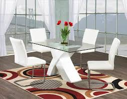 Glass Dining Room Table Set Dining Table Sets Six Grey Chair Contemporary Room Set Modern Six