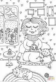 peppy in november coloring page free printable coloring pages