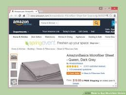 how to buy microfiber sheets 14 steps with pictures wikihow