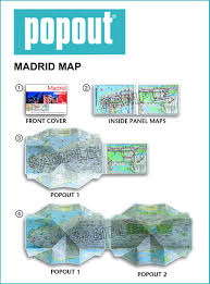 Metro Madrid Map by Madrid Popout Map Handy Pocket Size Pop Up City Map Of Madrid