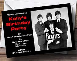 beatles invitation etsy
