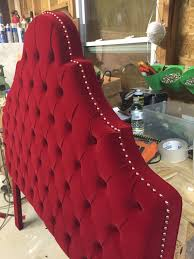 Queen Headboard Upholstered by Queen Size Headboard Red Velvet Headboard Tufted By Newagainuph