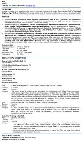 resume format of electrical engineer it resume cover letter sample