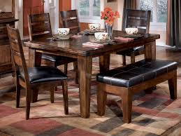 kitchen dining room table with bench seats sets on scenic small