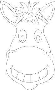 printable donkey mask to color u2026 pinteres u2026