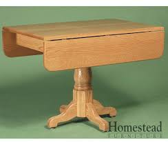 Square Drop Leaf Table Square Country Pedestal Drop Leaf Dining Table Homestead Furniture