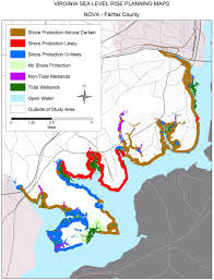 Washington Dc Area Map by Sea Level Rise Planning Maps Likelihood Of Shore Protection In
