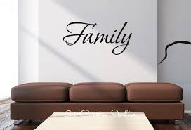 family wall decal home decor sticker text art script writing decal homemade wall decor living zoom