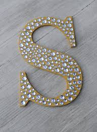 Home Letters Decoration 9 Sparkle Gold Bling Decorative Wall Letters Wedding