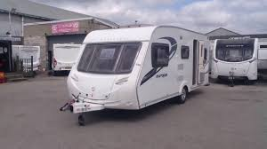Caravan With Bunk Beds Sterling Europa 530 2010 5 Berth Dinner With Rear Pullman
