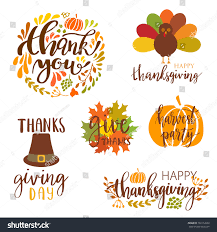 thanksgiving day banners vector collection autumn elements typography lettering stock
