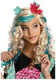 Monster High Halloween Costumes Girls Lagoona Blue Wig
