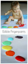 scented edible no cook fingerpaint recipe for babies and toddlers