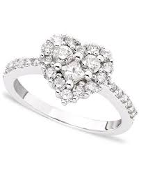 heart ring classique by effy diamond heart ring 9 10 ct t w in 14k white