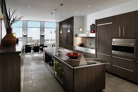 modern kitchen design wood mode cabinets kitchen brookhaven vista smokey brown pearwood laminate
