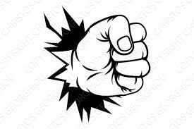 fist hand punching through wall illustrations creative market